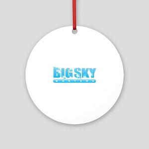 Montana - Big Sky Round Ornament