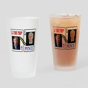 TRUMP - PENCE Drinking Glass