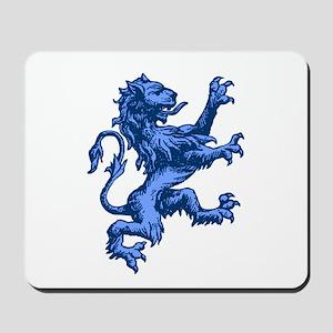 Renaissance Lion (blue) Mousepad