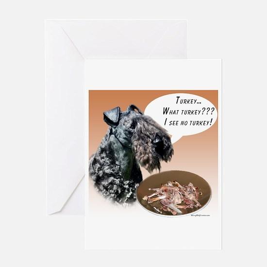 Kerry Blue Turkey Greeting Card