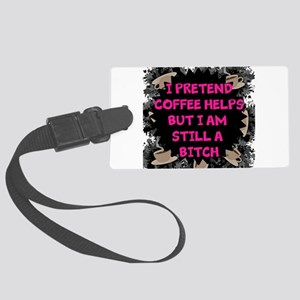 Pretend Coffee Helps Luggage Tag