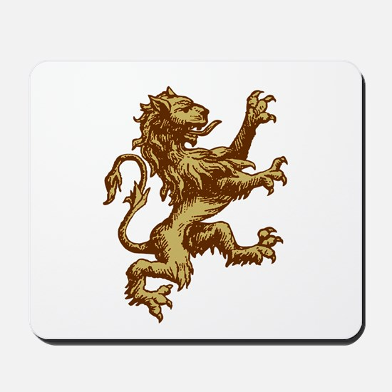 Renaissance Lion (gold) Mousepad