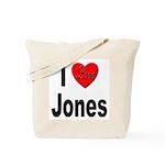 I Love Jones Tote Bag