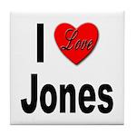 I Love Jones Tile Coaster