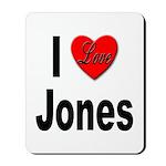 I Love Jones Mousepad