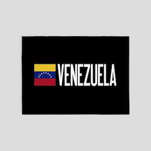 Venezuela: Venezuelan Flag & Venezu 5'x7'Area Rug