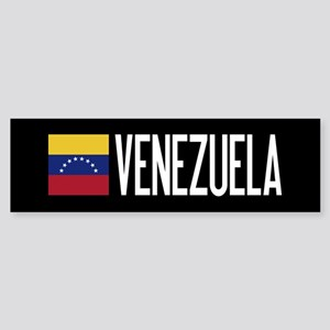 Venezuela: Venezuelan Flag & Vene Sticker (Bumper)