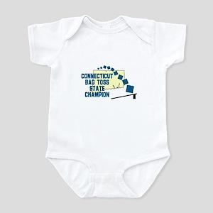 Connecticut Bag Toss State Ch Infant Bodysuit