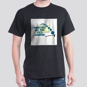 Connecticut Bag Toss State Ch Dark T-Shirt