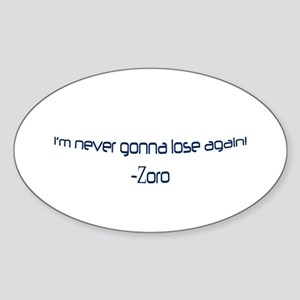 Zoro Oval Sticker