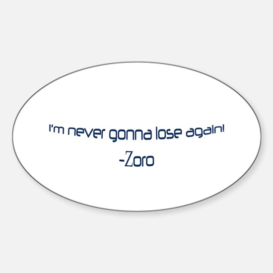 Zoro Oval Decal