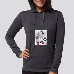 WOLF AND PAW PRINT Long Sleeve T-Shirt