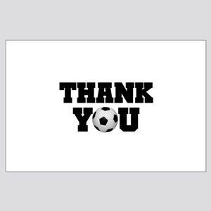 Soccer Thank You Large Poster