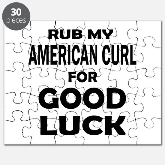 Rub my American Curl for good luck Puzzle
