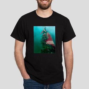 Christmas Tree Scuba Flag Dark T-Shirt