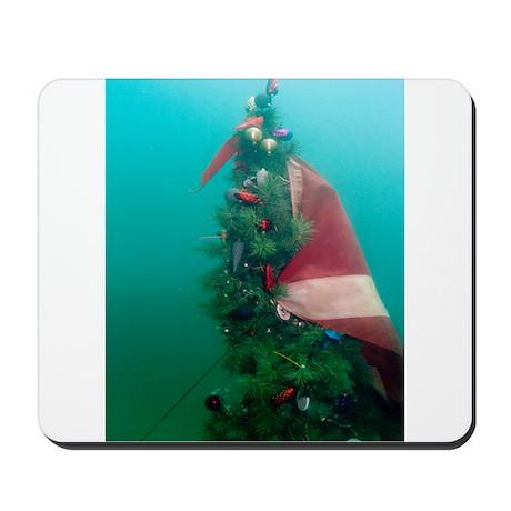 Christmas Tree Scuba Flag Mousepad