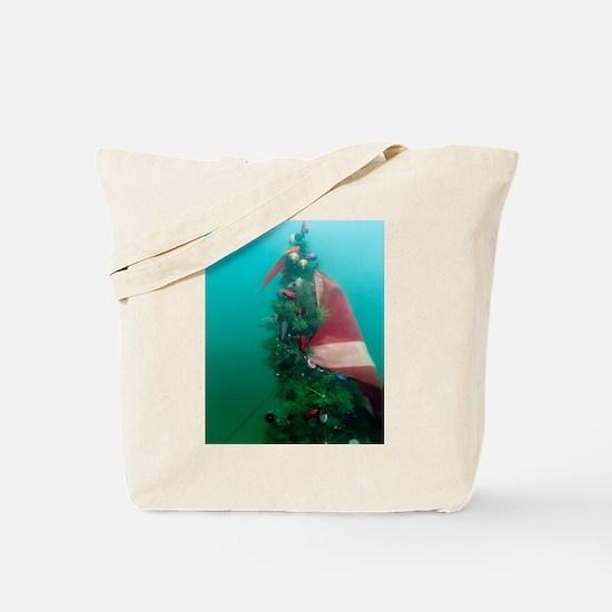 Christmas Tree Scuba Flag Tote Bag