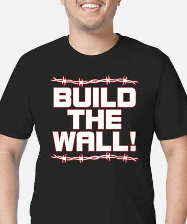 BUILD THE WALL! Men's Fitted T-Shirt (dark)