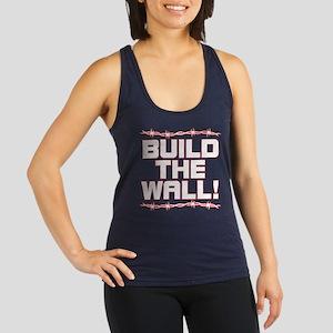BUILD THE WALL! Racerback Tank Top