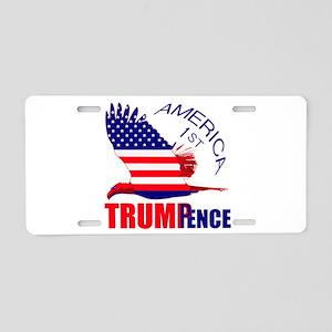 Trump Pence America 1st Aluminum License Plate