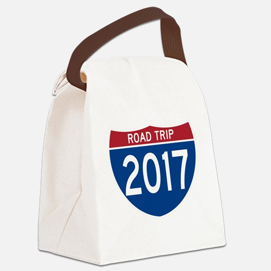 Cute Highway Canvas Lunch Bag