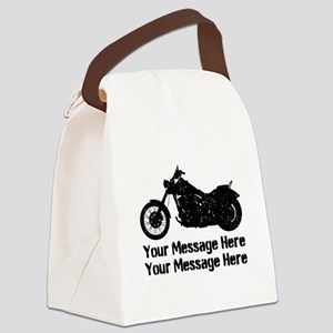 Personalize It, Motorcycle Canvas Lunch Bag