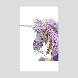 Purple Unicorn Rectangle Sticker