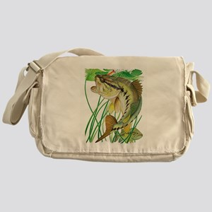 Largemouth Bass with Lily Pads Messenger Bag
