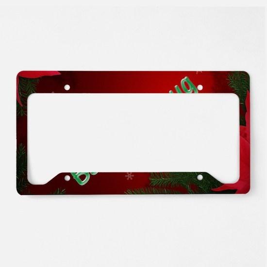 Bah Humbug License Plate Holder