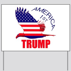 Trump America First Eagle Yard Sign