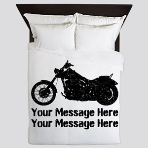 Personalize It, Motorcycle Queen Duvet