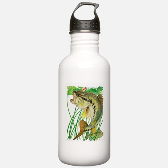 Largemouth Bass with L Water Bottle