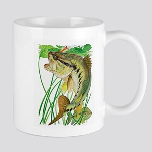 Largemouth Bass with Li Stainless Steel Trave Mugs
