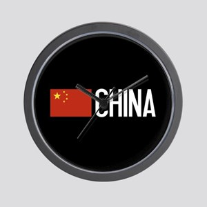 China: Chinese Flag & China Wall Clock