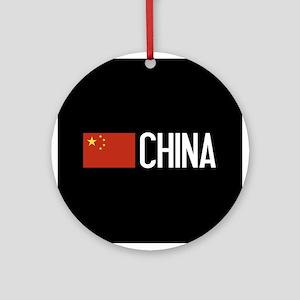 China: Chinese Flag & China Round Ornament
