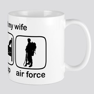 Eat Sleep Air Force - Support Wife Mug