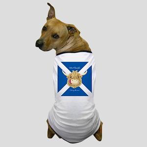 Wee Hamish Happy Scottish Cow (Saltire) Dog T-Shir