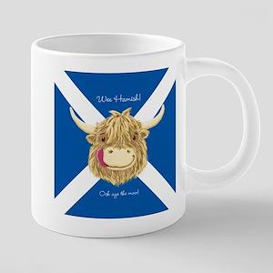 Wee Hamish Happy Scottish Cow (Saltire) Mugs