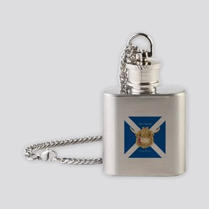Wee Hamish Happy Scottish Cow (Saltire) Flask Neck