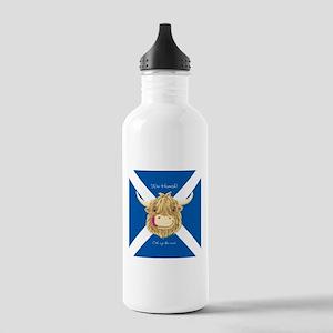 Wee Hamish Happy Scottish Cow (Saltire) Water Bott