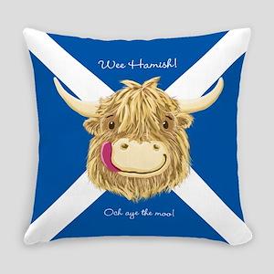 Wee Hamish Happy Scottish Cow (Saltire) Everyday P