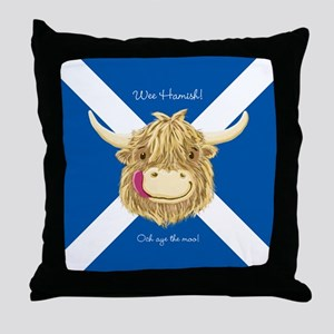 Wee Hamish Happy Scottish Cow (Saltire) Throw Pill