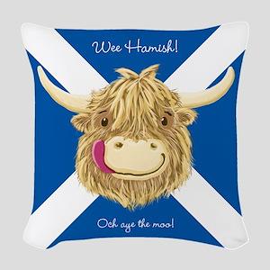 Wee Hamish Happy Scottish Cow (Saltire) Woven Thro