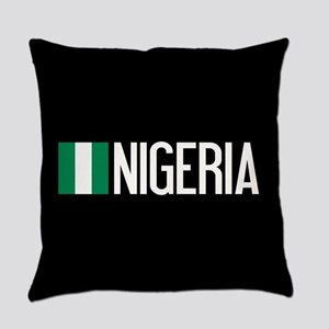 Nigeria: Nigerian Flag & Nigeria Everyday Pillow