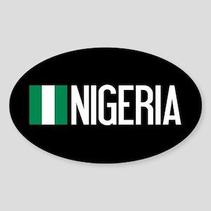 Nigeria: Nigerian Flag & Nigeria Sticker (Oval)