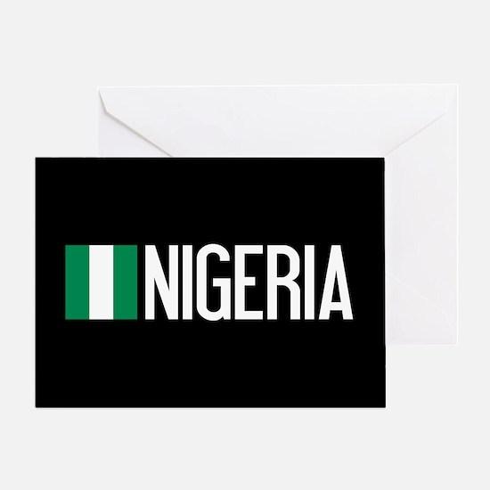 Nigeria: Nigerian Flag & Nigeria Greeting Card