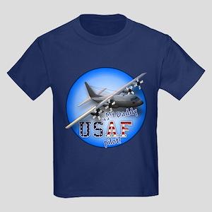 C-130 USAF Daddy Kids Dark T-Shirt