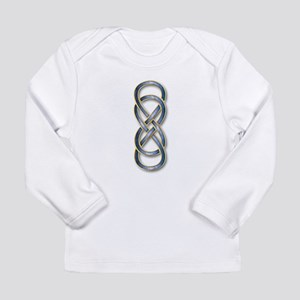 Double Infinity Cloisonne Blue Long Sleeve T-Shirt
