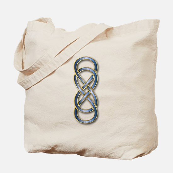 Double Infinity Cloisonne Blue Gold 2 Tote Bag