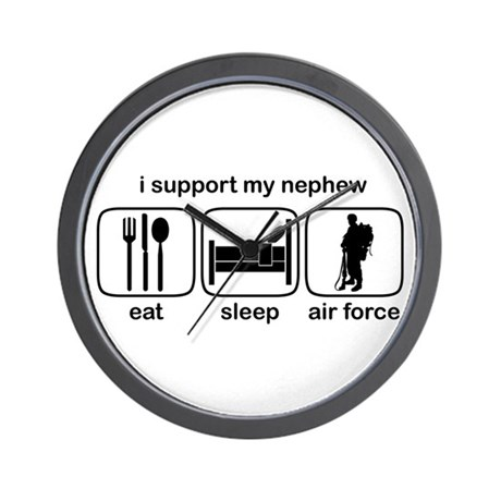 Eat Sleep Air Force - Support Nephew Wall Clock